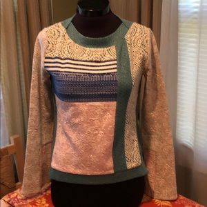 Anthropologie 9-HI5 STCL Patchwork Sweatshirt Top